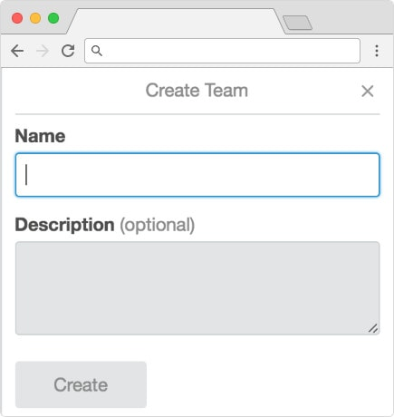 Creating a new team in Trello