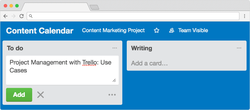 Trello project management: break down tasks