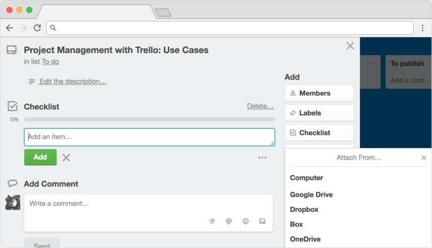 Attach a file in Trello
