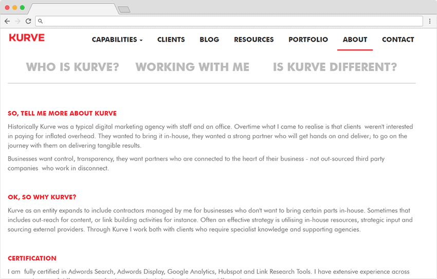 Kurve - agency staffing model
