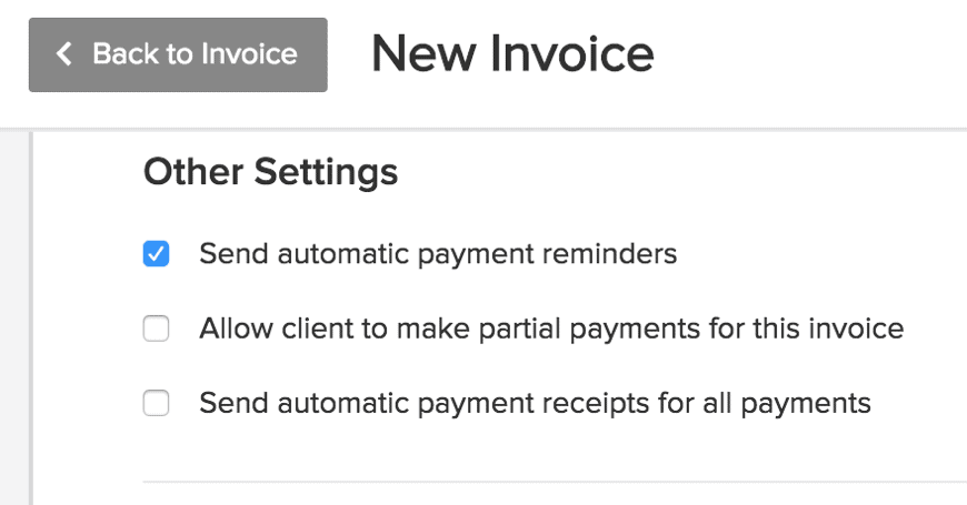 Set automatic reminders to make a payment
