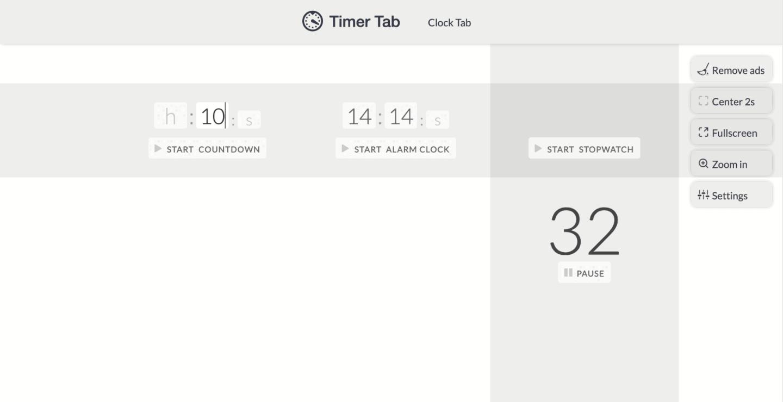 Timer Tab app