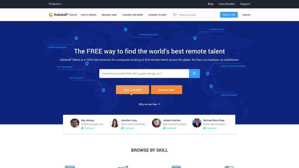 Hubstaff Talent - Alternative to Freelancer.com
