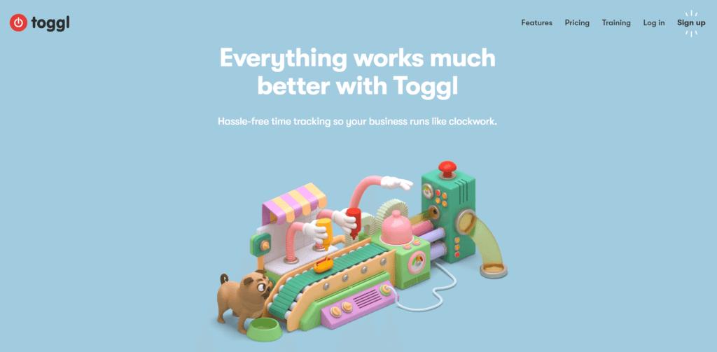 toggl desktop homepage