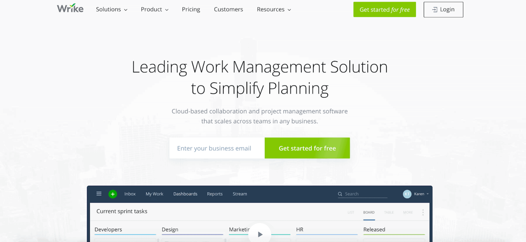 wrike business management software