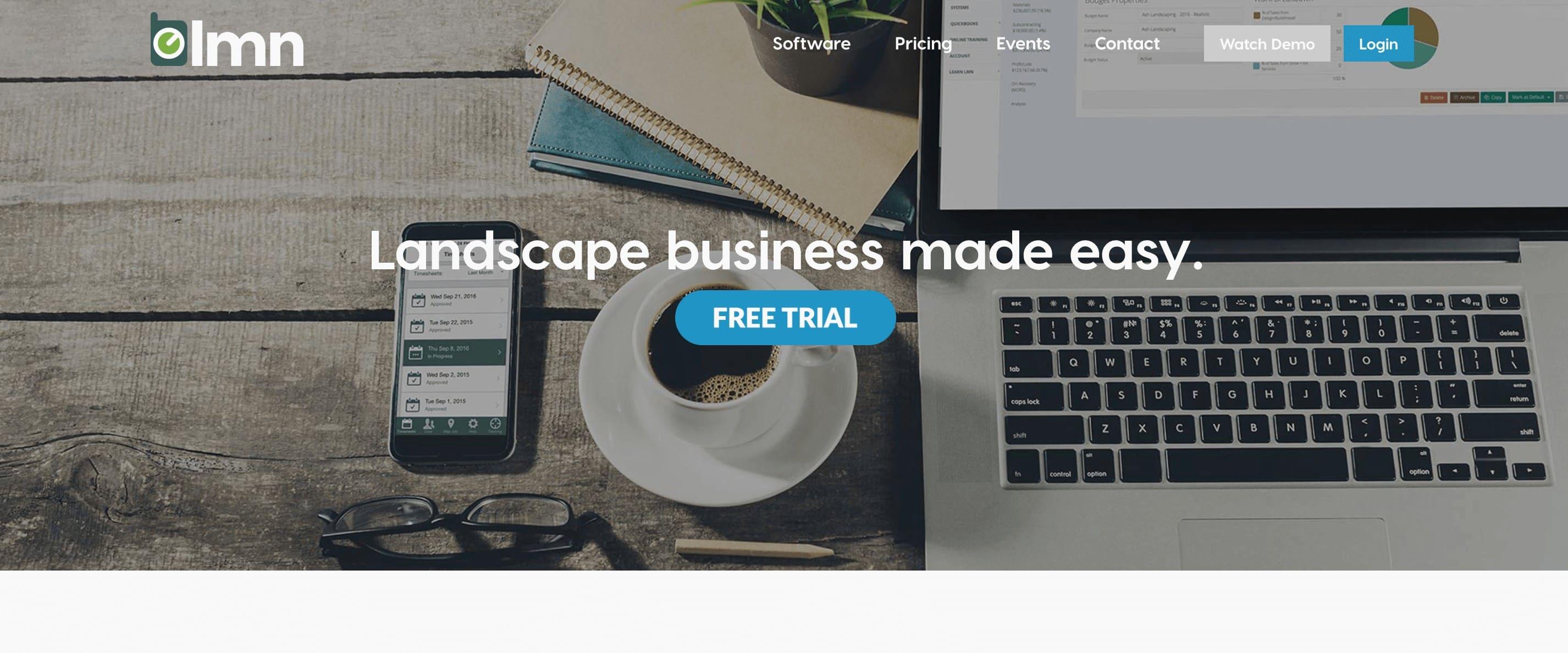 lmn landscaping app for business