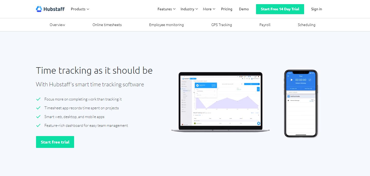 Hubstaff time tracking