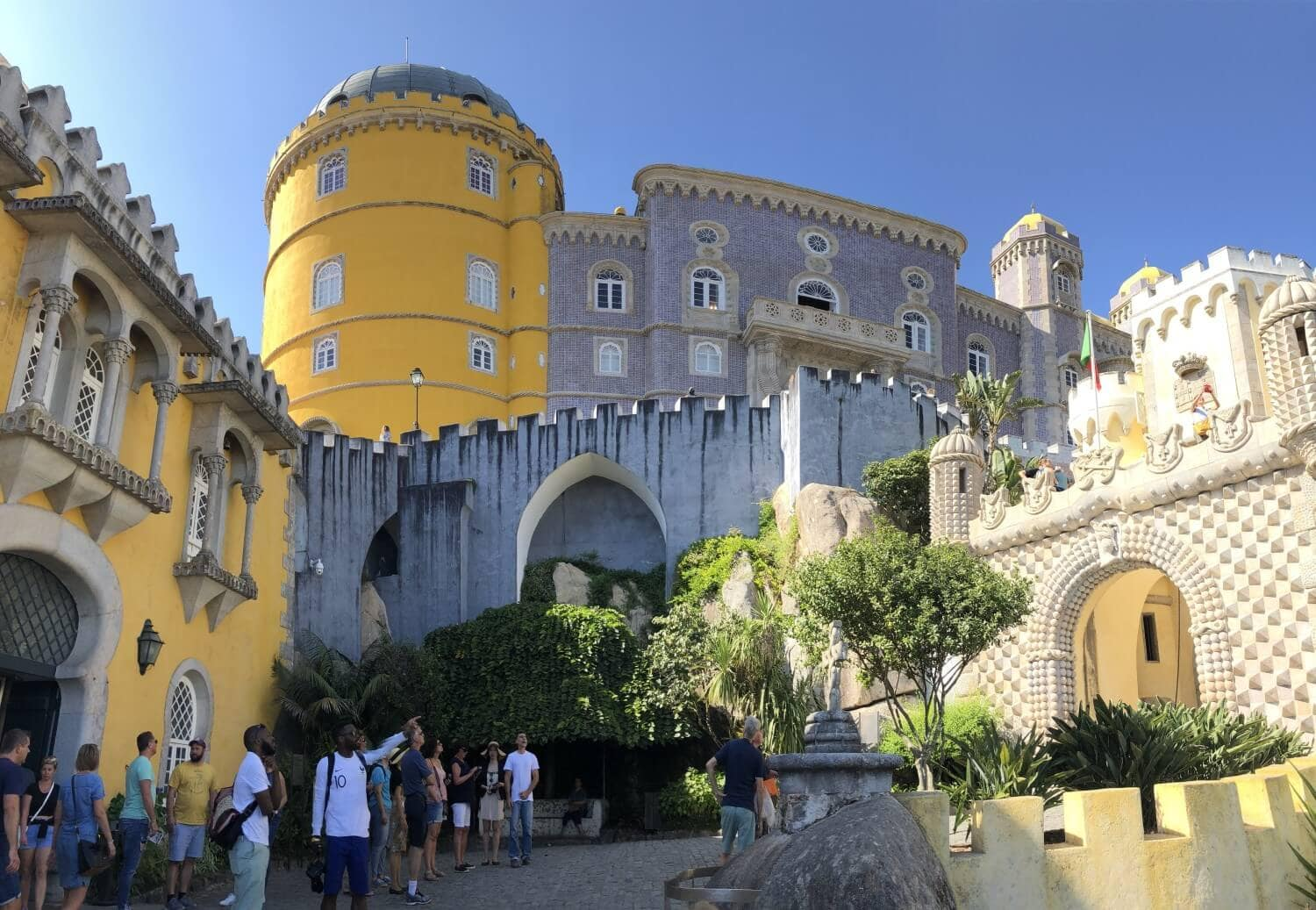 sintra castle pena palace visit during hubstaff retreat in portugal