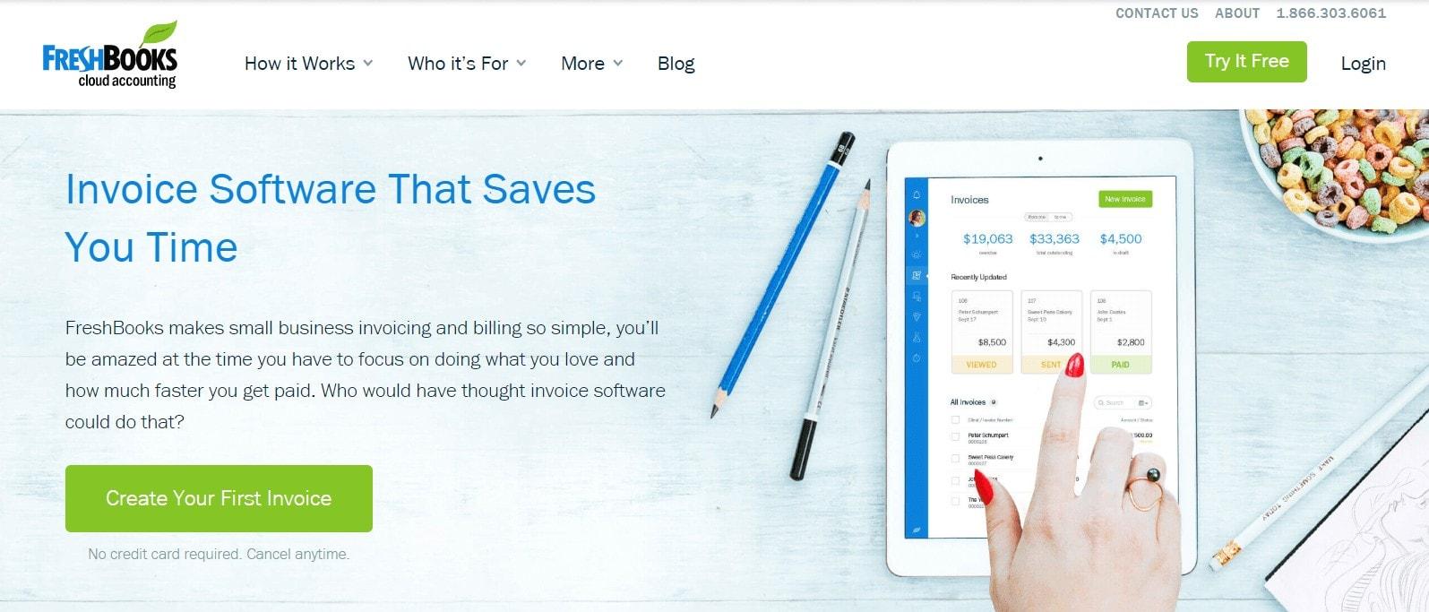 FreshBooks invoicing platform for invoicing