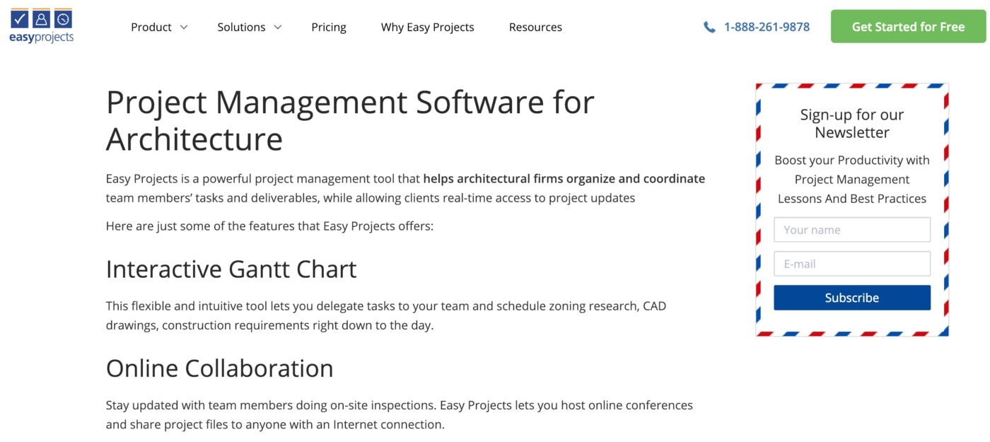 easy projects software website