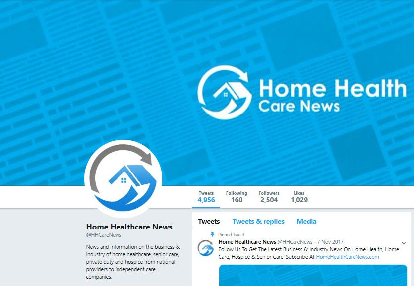 home health care news twitter account