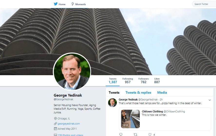 george yedinak twitter account