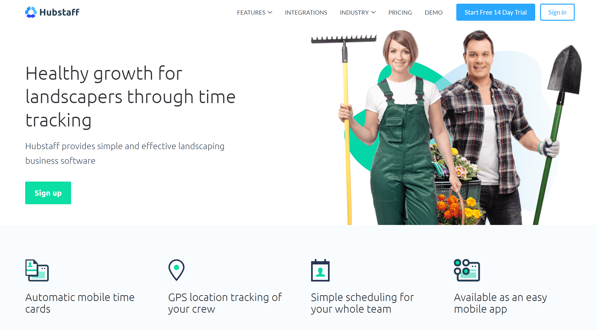 hubstaff gps time tracking for landscaping