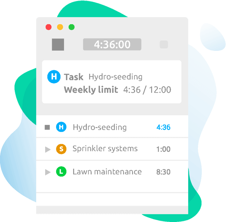 mobile time tracking app for landscapers hubstaff