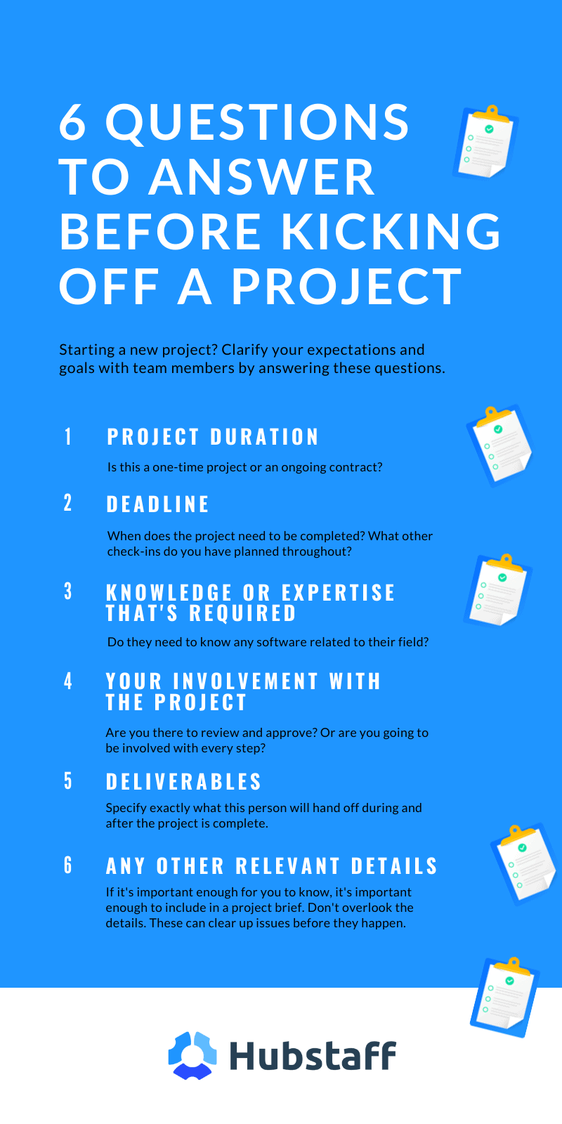 project expectations infographic hubstaff