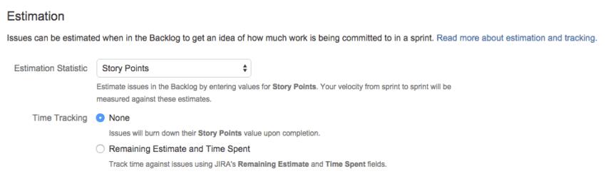 Jira estimation
