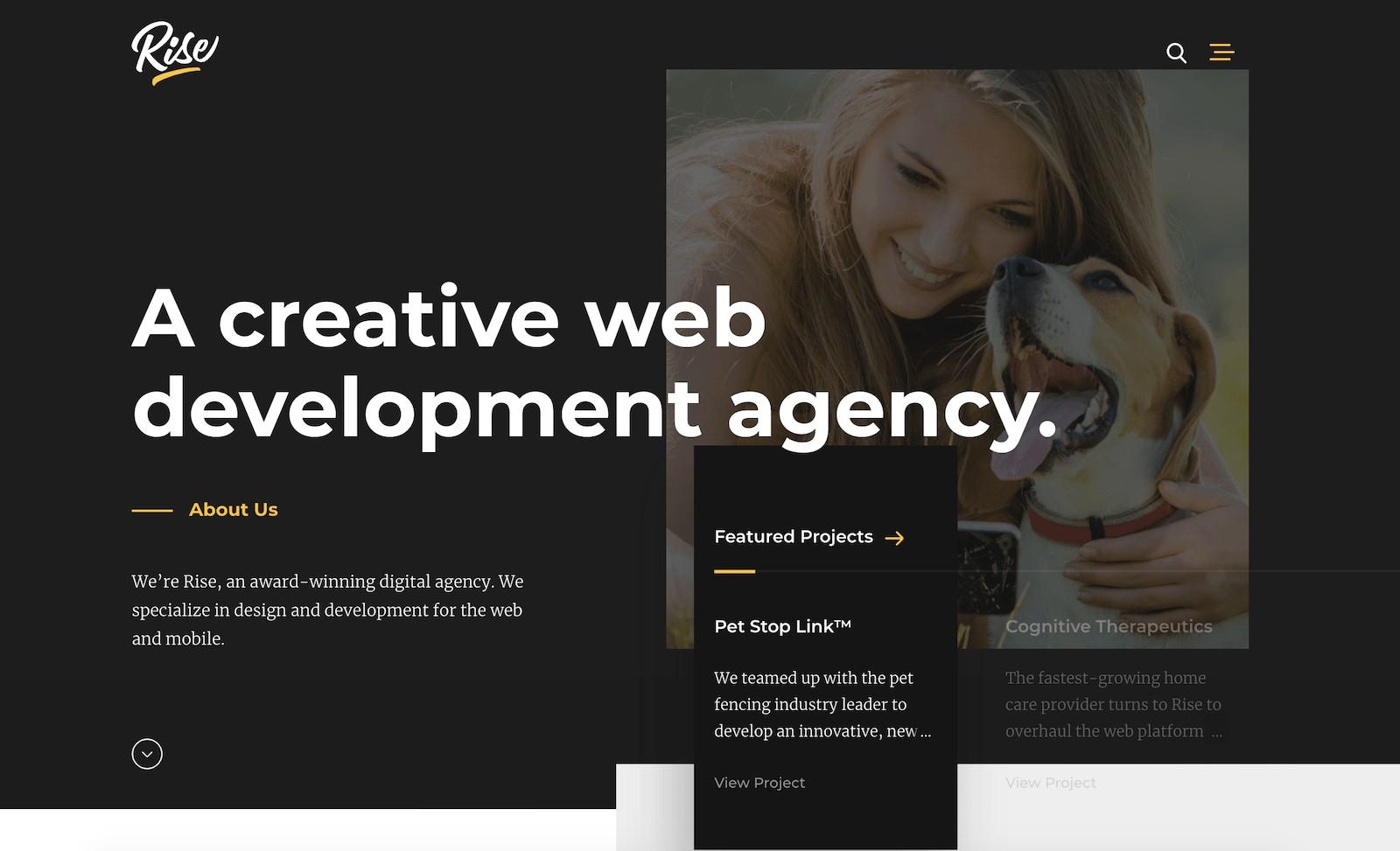 Rise agency website