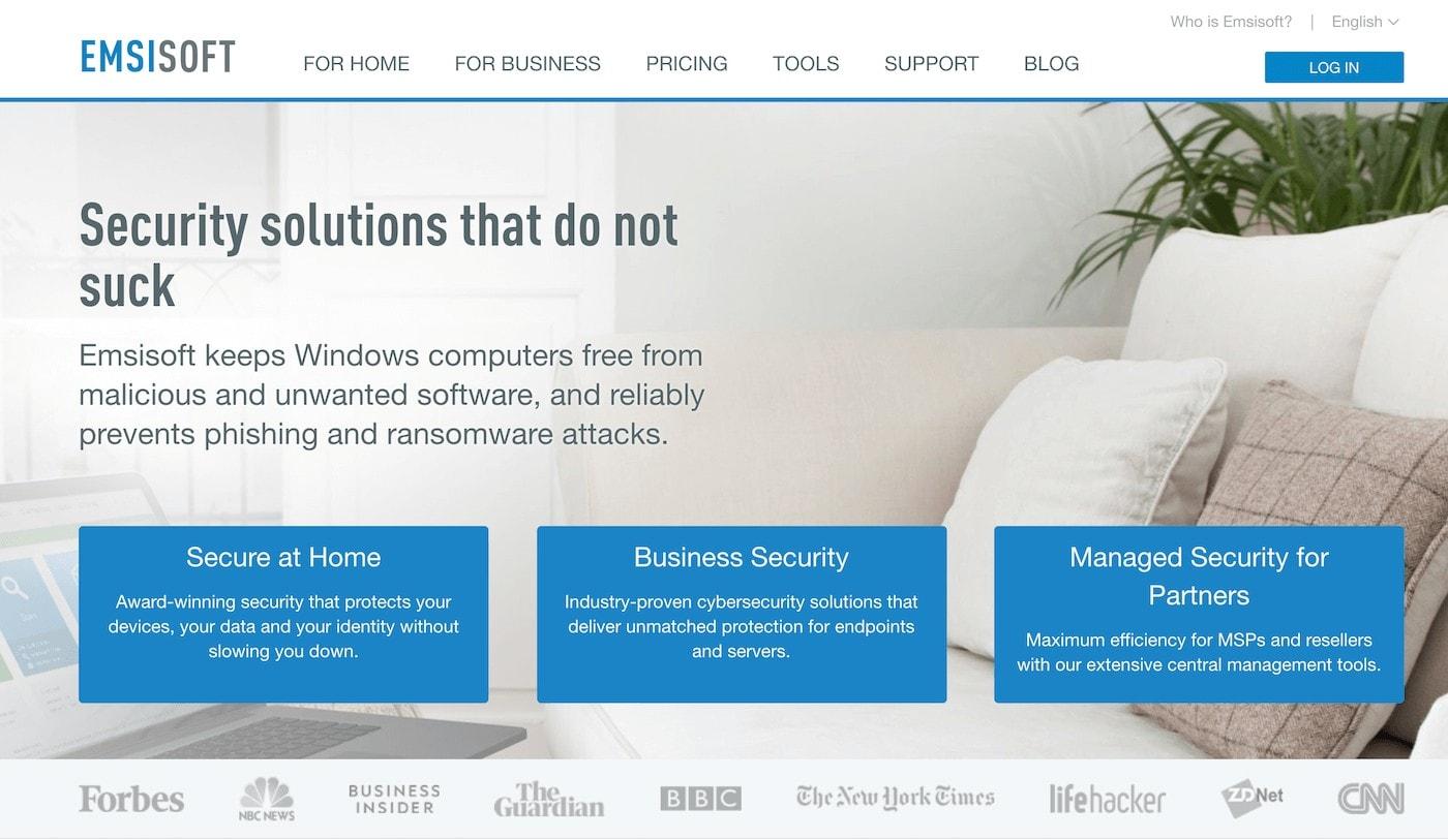 emsisoft website