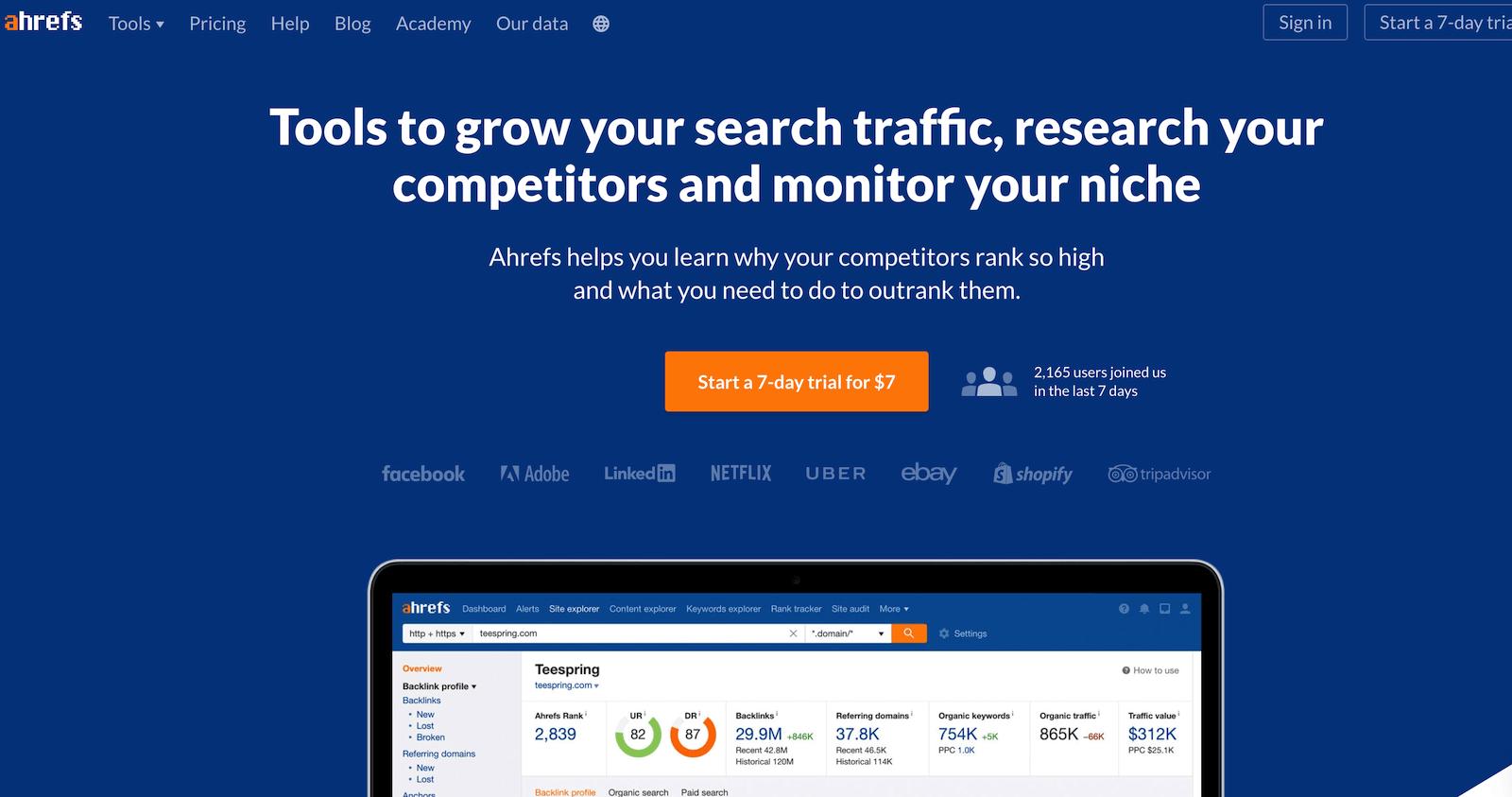 ahrefs website