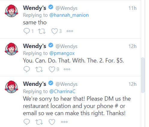 Wendy's Twitter 2