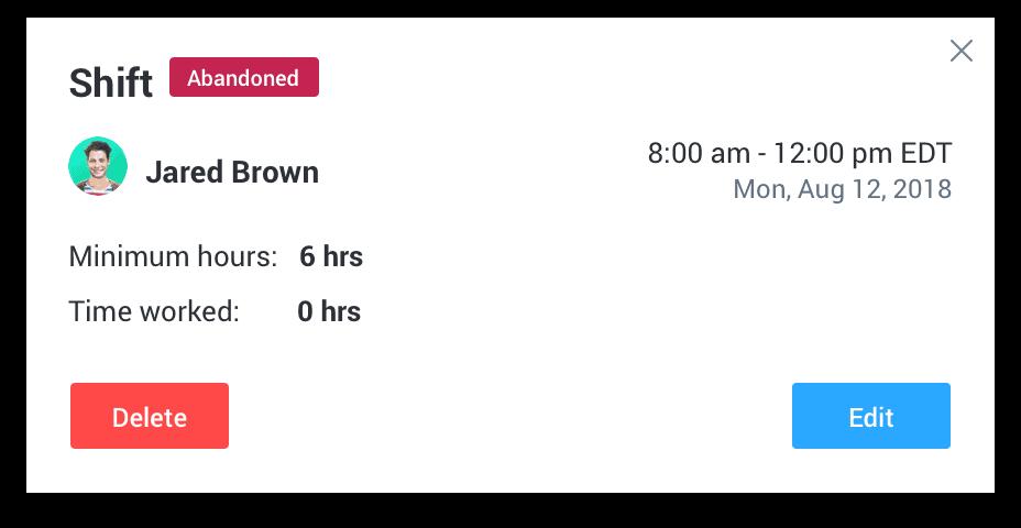 Hubstaff view schedule details