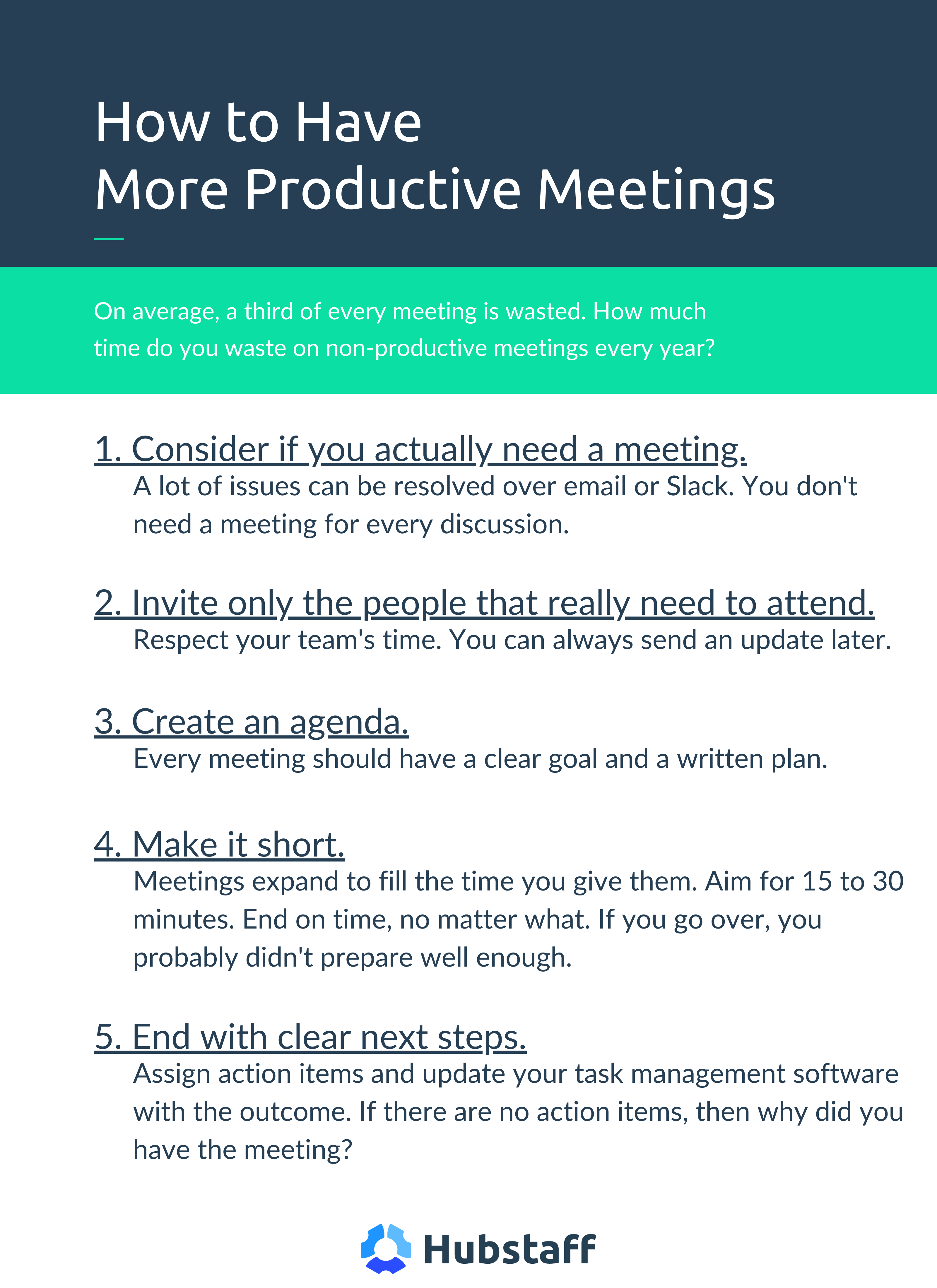 How to have productive meetings
