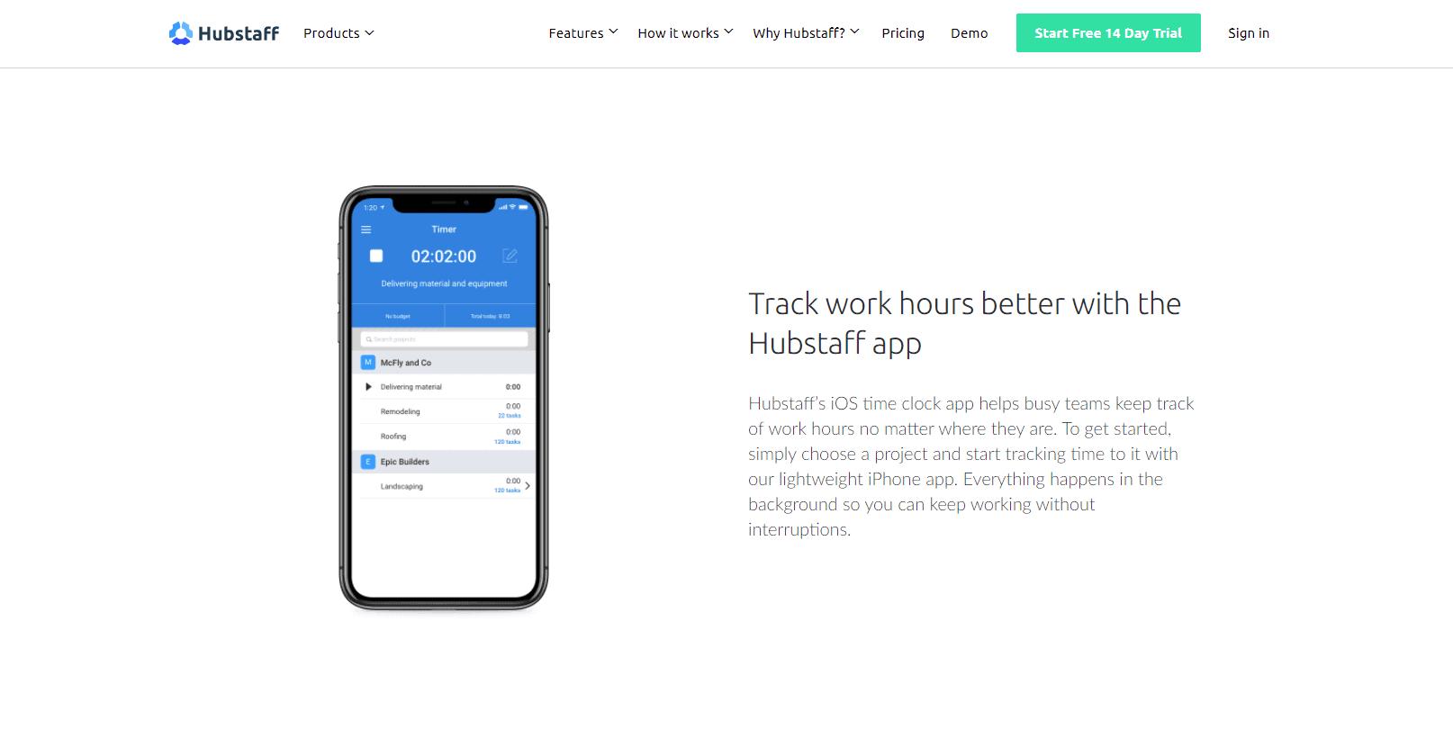 Hubstaff for iOS