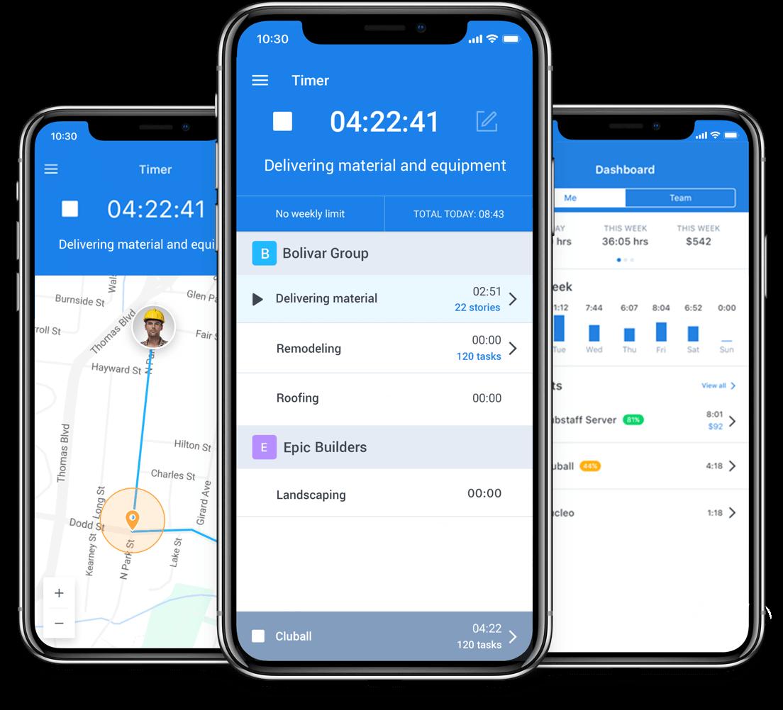 Hubstaff GPS features