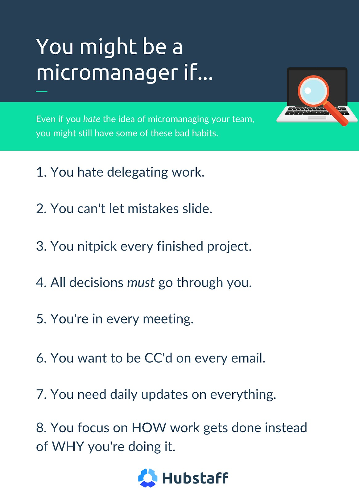 Signs of being a micromanager