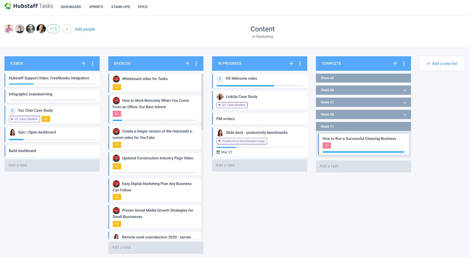 Tasks workflow