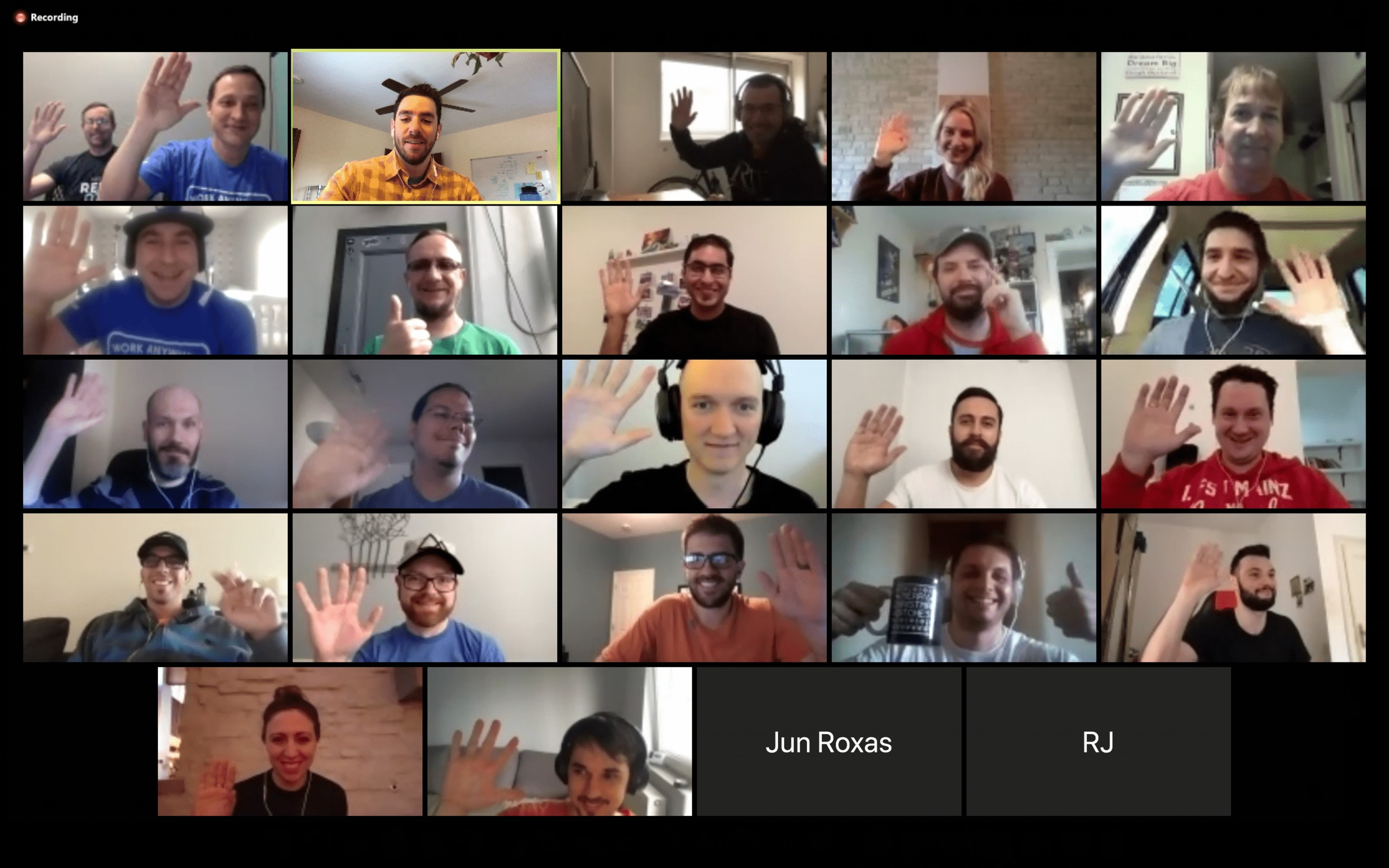 zoom call with the hubstaff team