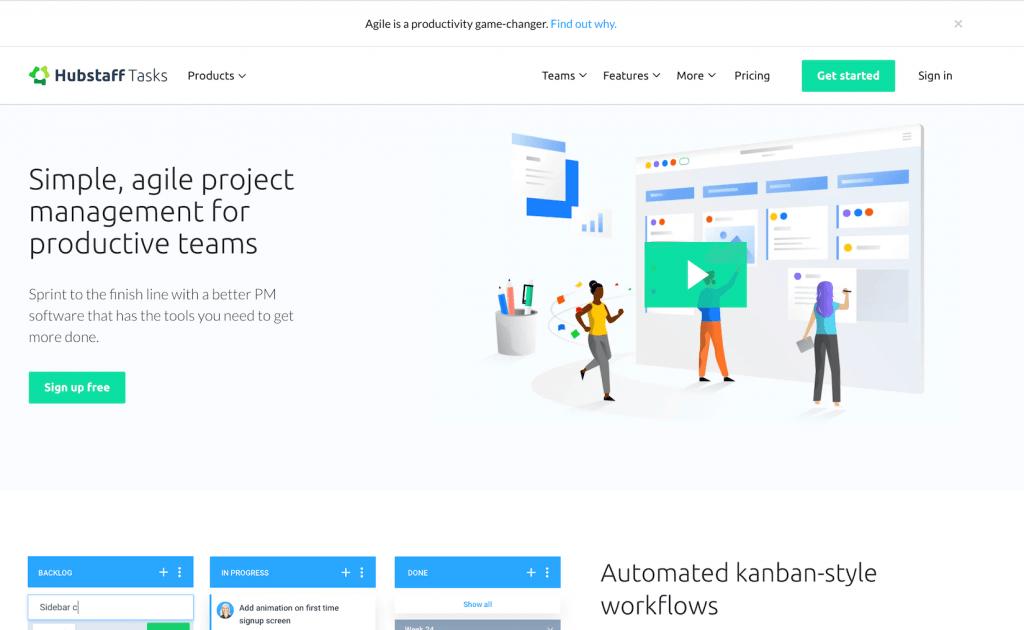 hubstaff tasks homepage