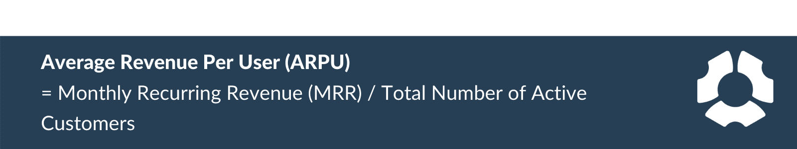 Average revenue per user (ARPU) formula