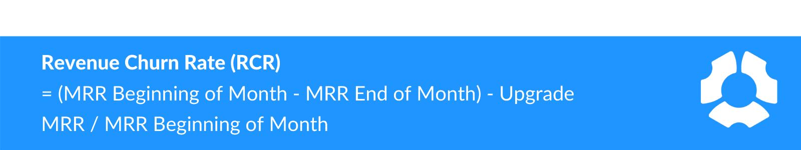Revenue churn rate (RCR) formula