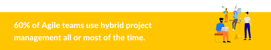 Hybrid project management statistic