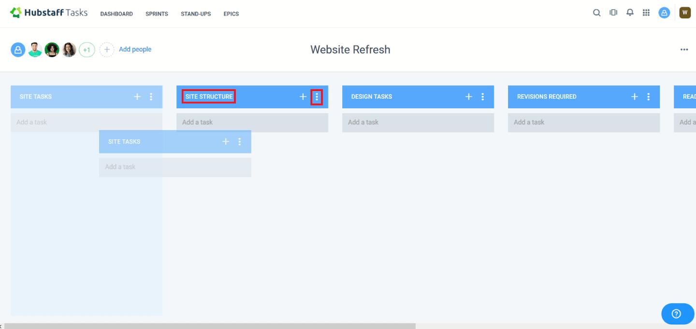Organizing task columns in HS Tasks