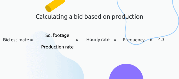 Production-based bid estimate formula