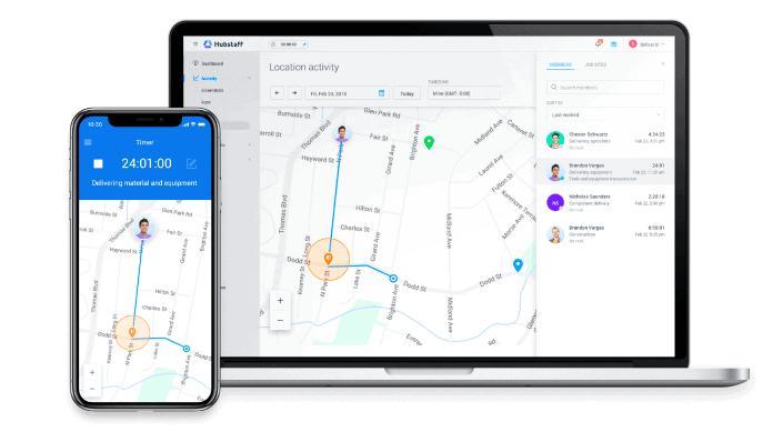 Hubstaff time tracking app for desktop and mobile