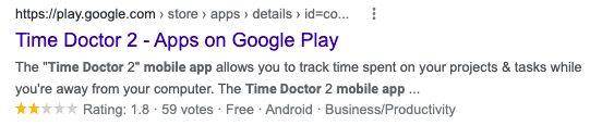 time doctor rating