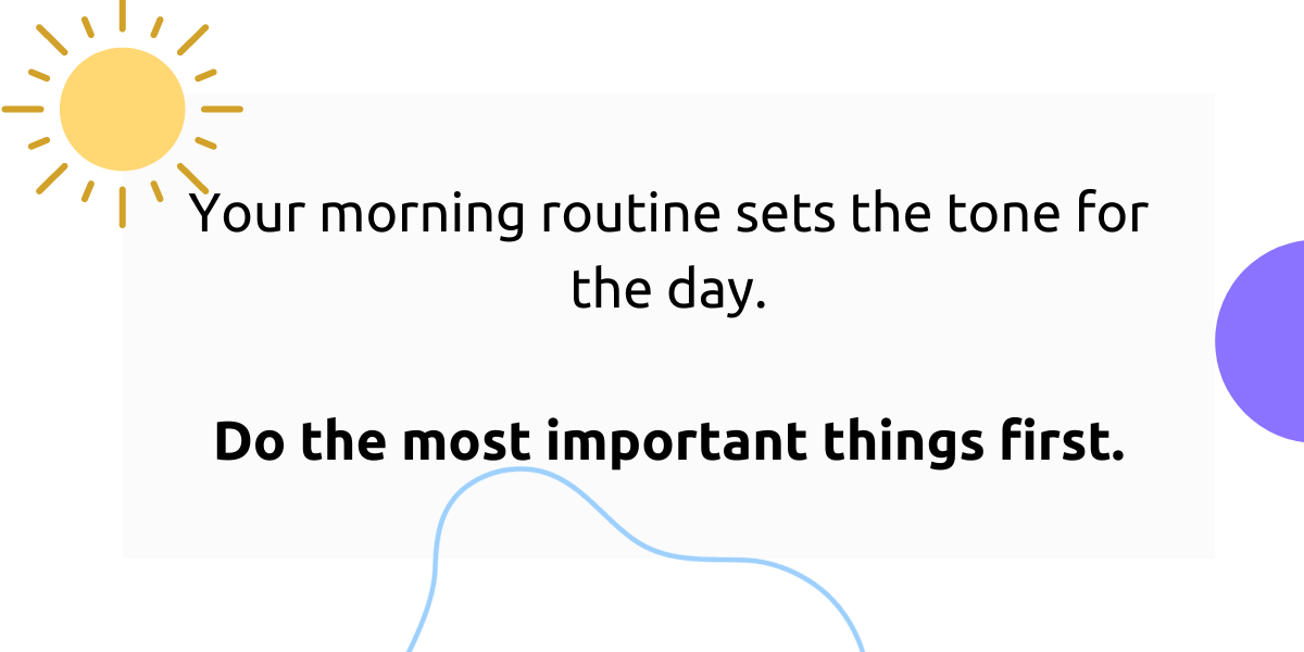 Prioritize important things