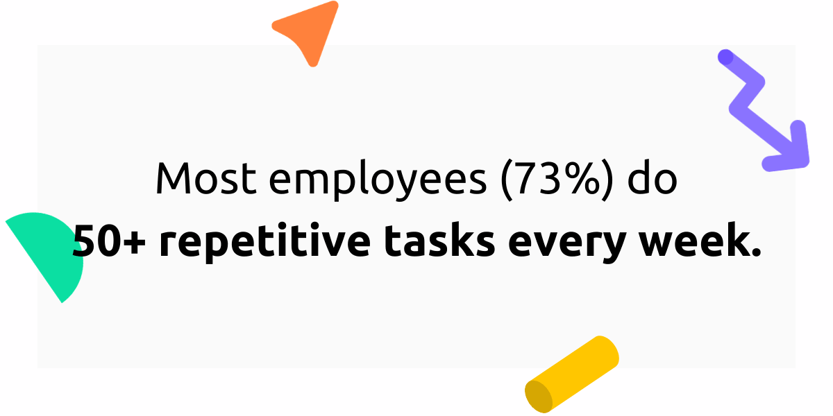 Most employees do over 50 repetitive every week