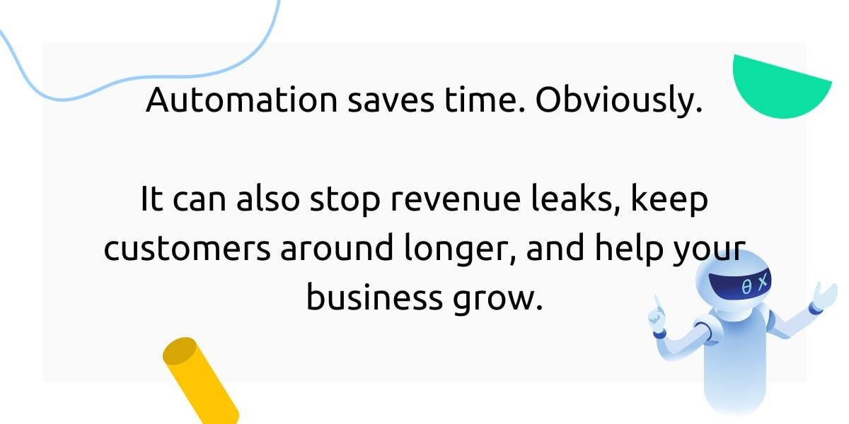 Automation saves time and helps your business grow